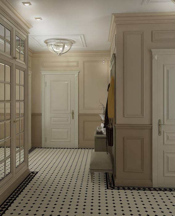 Холл в английском стиле: Коридор и прихожая в . Автор – Yurov Interiors