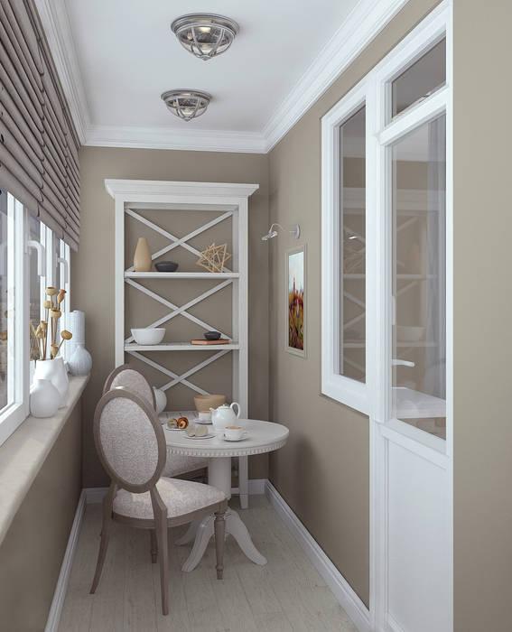 Балкон: Tерраса в . Автор – Yurov Interiors