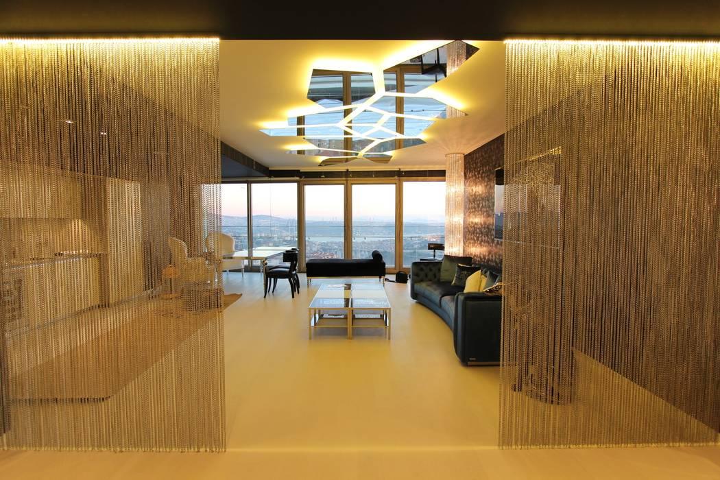 Phòng khách theo Orkun İndere Interiors, Hiện đại