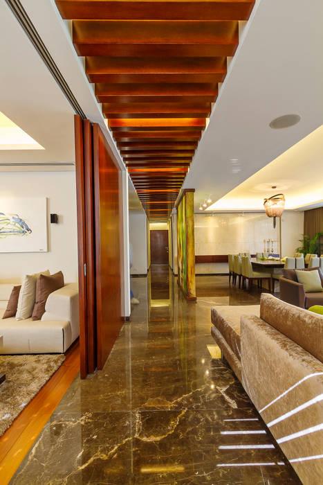 Pasillos, vestíbulos y escaleras de estilo moderno de Enrique Cabrera Arquitecto Moderno