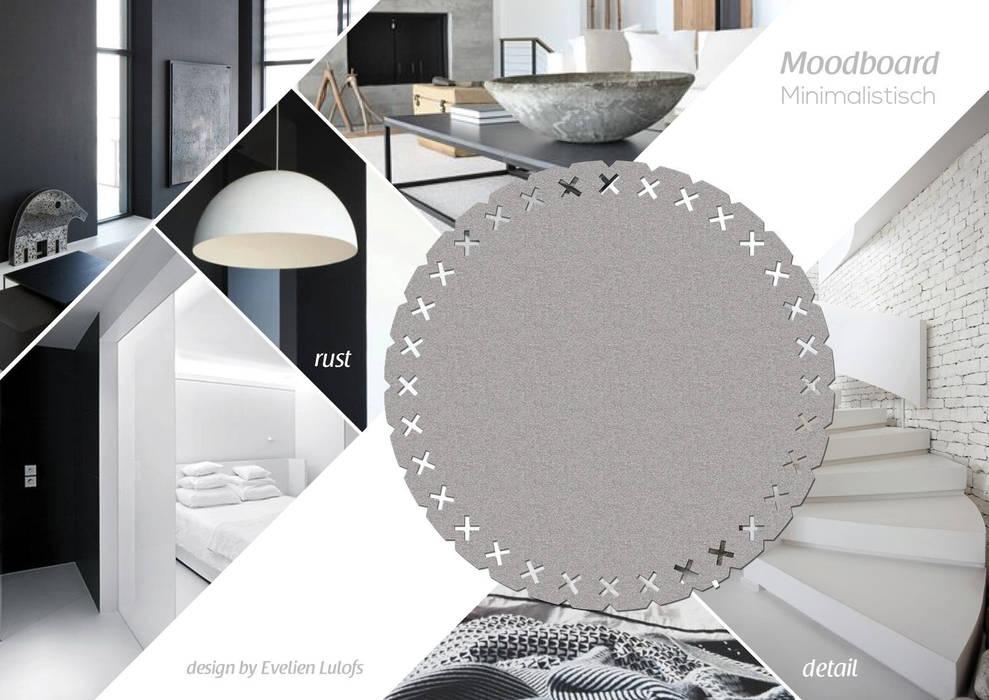 Vloerkleed kisses in een minimalistisch interieur: minimalistische