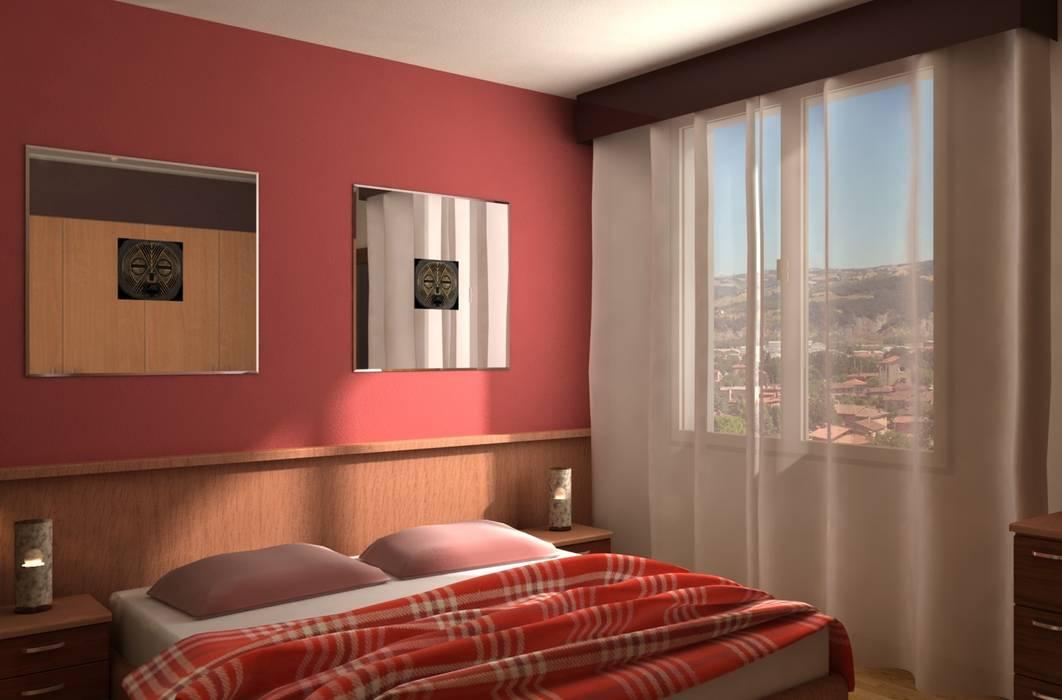 Villa Privata: Camera da letto in stile in stile Moderno di Diorama Snc