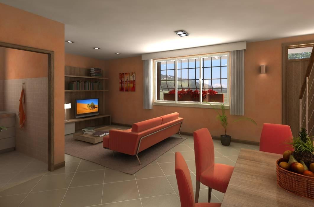 Casa Privata: Soggiorno in stile in stile Classico di Diorama Snc