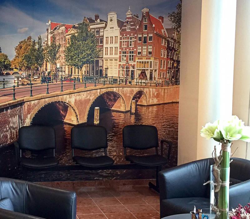 Fotobehang: Amsterdamse grachten Koloniale gangen, hallen & trappenhuizen van kleurmijninterieur.nl Koloniaal