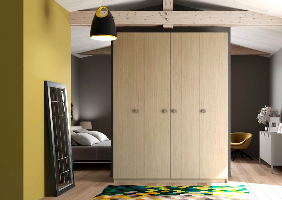 armoire dressing sur mesure dressing de style de style scandinave par homify. Black Bedroom Furniture Sets. Home Design Ideas