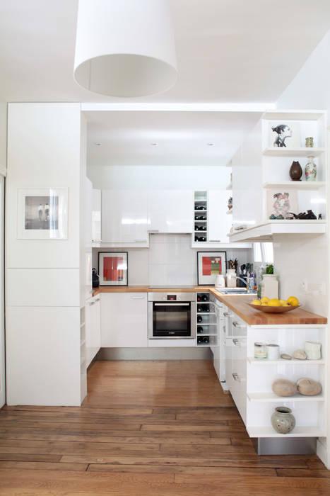 Aménagement d'un appartement de 70m² - Paris Cuisine moderne par MadaM Architecture Moderne