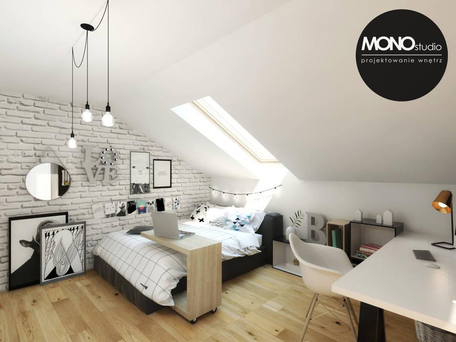 Pokój nastolatki: styl , w kategorii Pokój dziecięcy zaprojektowany przez MONOstudio,