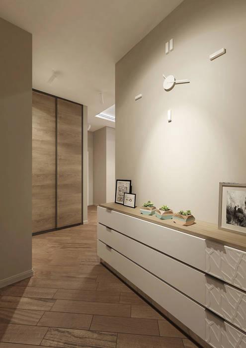 Квартира 70м2. Москва 2014г. homify Коридор, прихожая и лестница в эклектичном стиле
