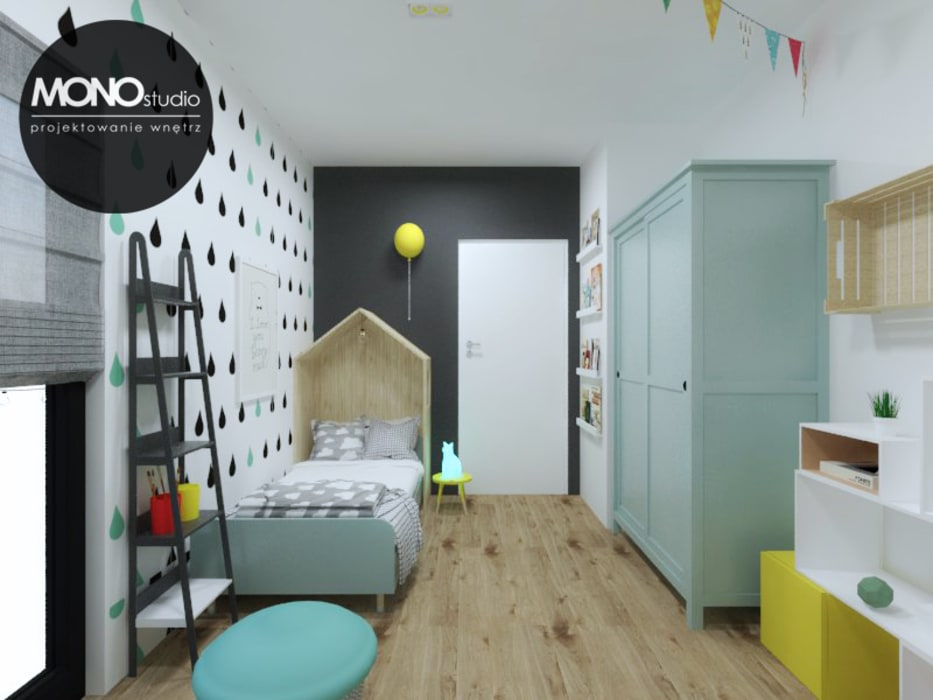 Pokój niemowlaka MONOstudio Skandynawski pokój dziecięcy