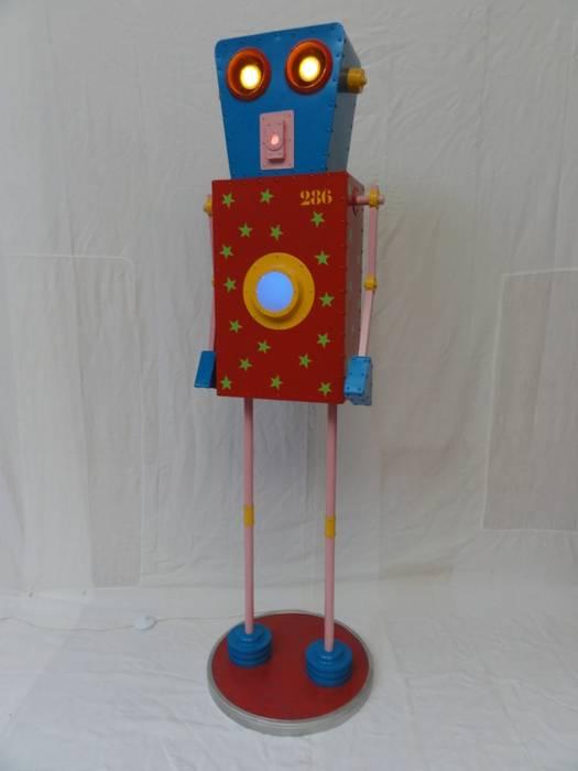 ROBOT LUMINEUX: Salon de style de style eclectique par CYRILLE PLATE