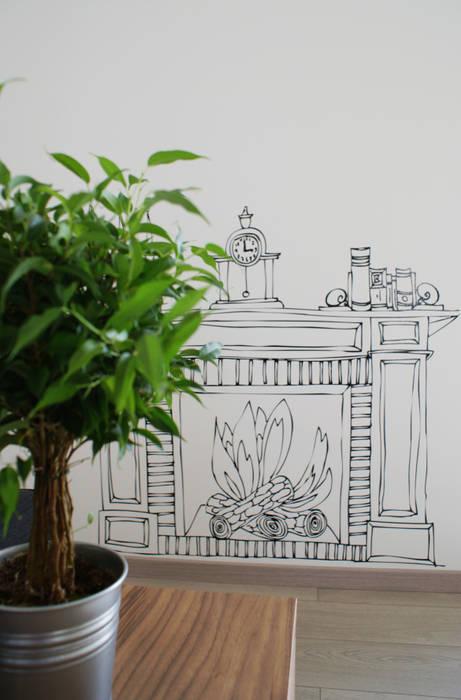 Salon moderne par Valentina Cassader Moderne