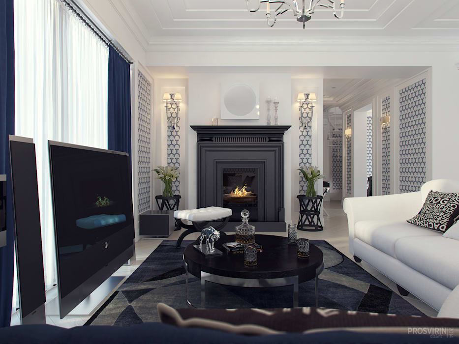 Eclectic style living room by Prosvirin Ruslan Eclectic