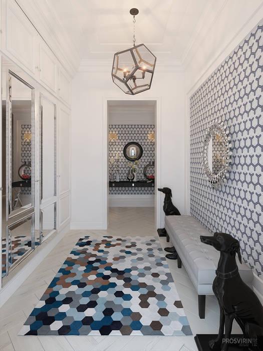 Pasillos, vestíbulos y escaleras de estilo ecléctico de Prosvirin Ruslan Ecléctico