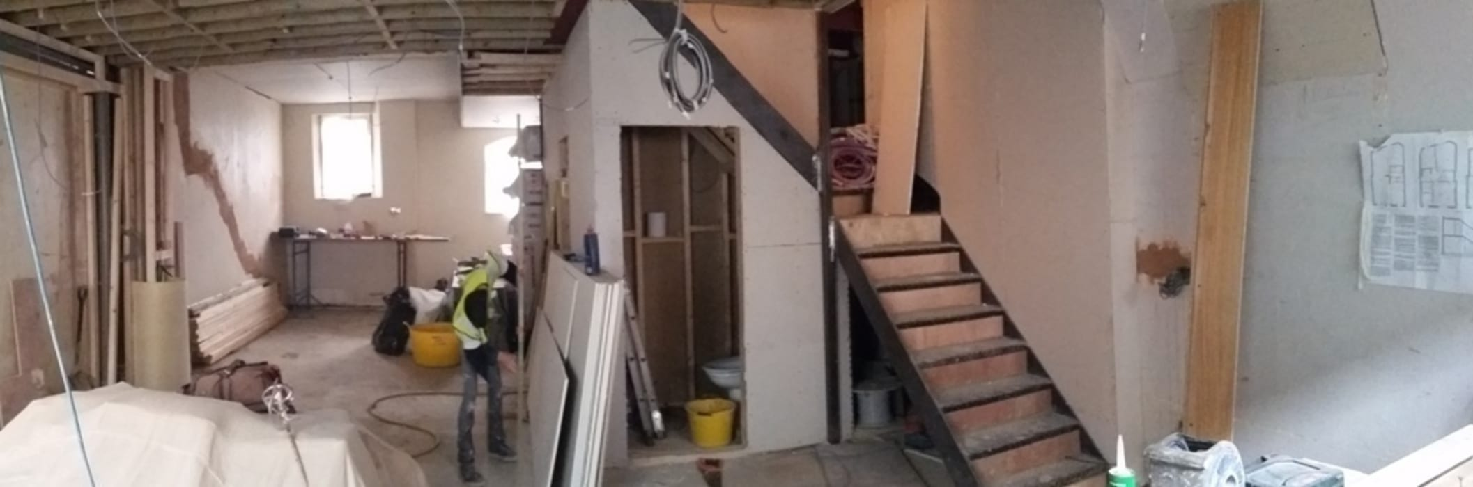 THE STAIRCASE - DURING CONSTRUCTION IS AND REN STUDIOS LTD