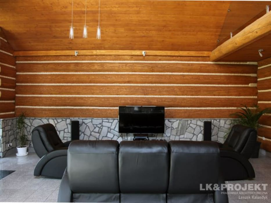 LK&684: styl , w kategorii Salon zaprojektowany przez LK & Projekt Sp. z o.o.