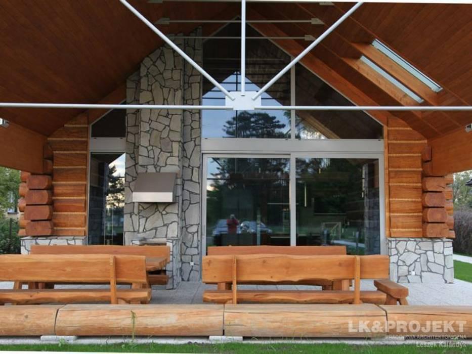 LK&684: styl nowoczesne, w kategorii Domy zaprojektowany przez LK & Projekt Sp. z o.o.