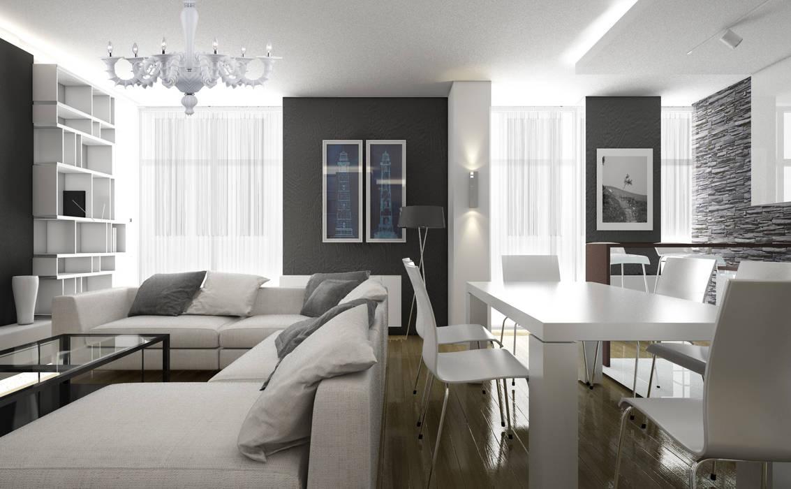 Гостиная в . Автор – ZIKZAK architects