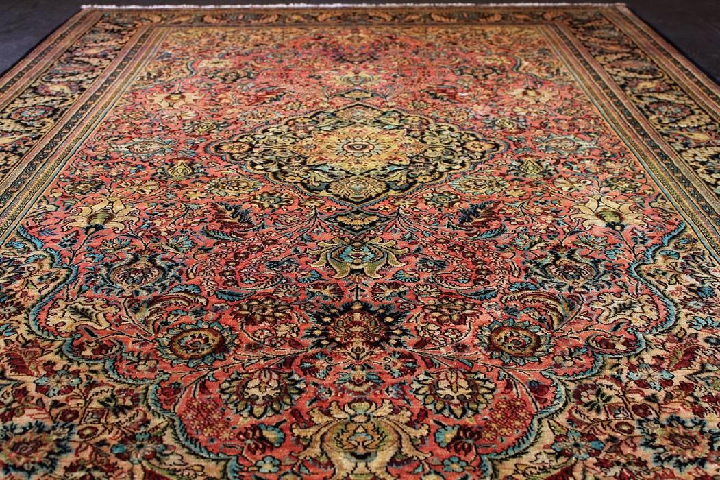 Bardzo dobry Ghom antique – dywan jedwabny tkany ręcznie w iranie; zbliżenie na IN68