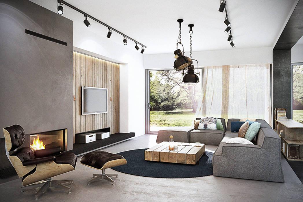Livings de estilo  por razoo-architekci, Industrial