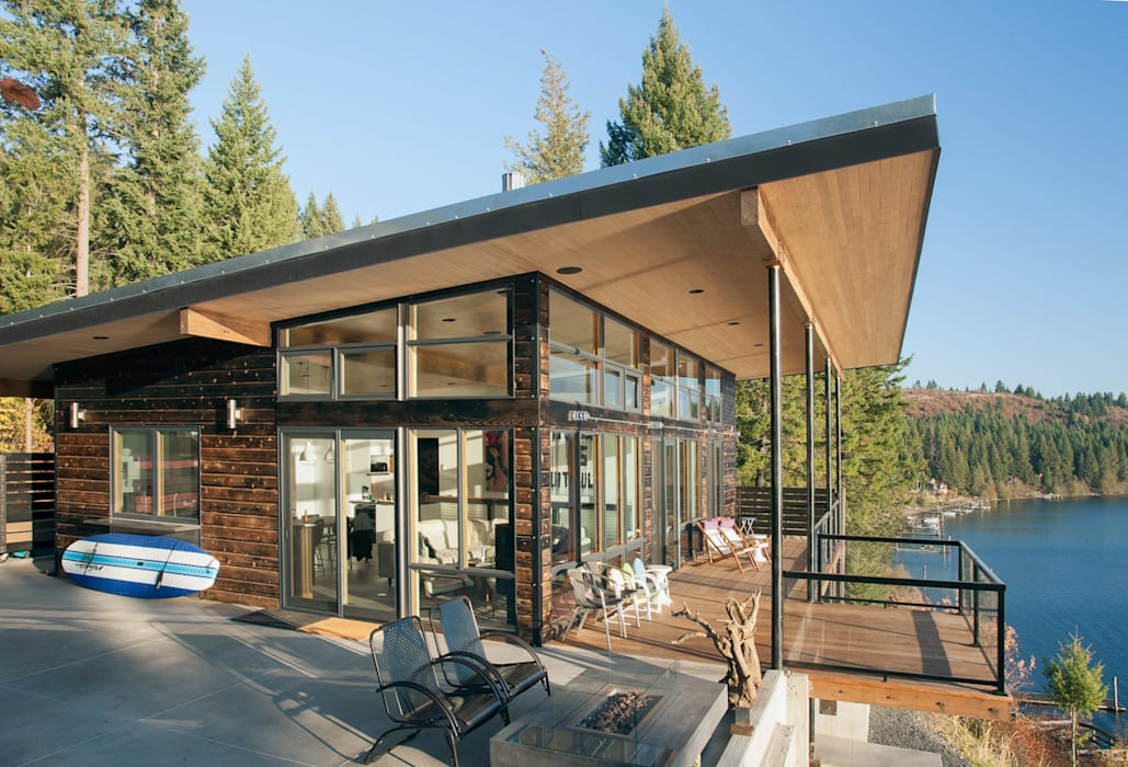 Camp Hammer Modern houses by Uptic Studios Modern