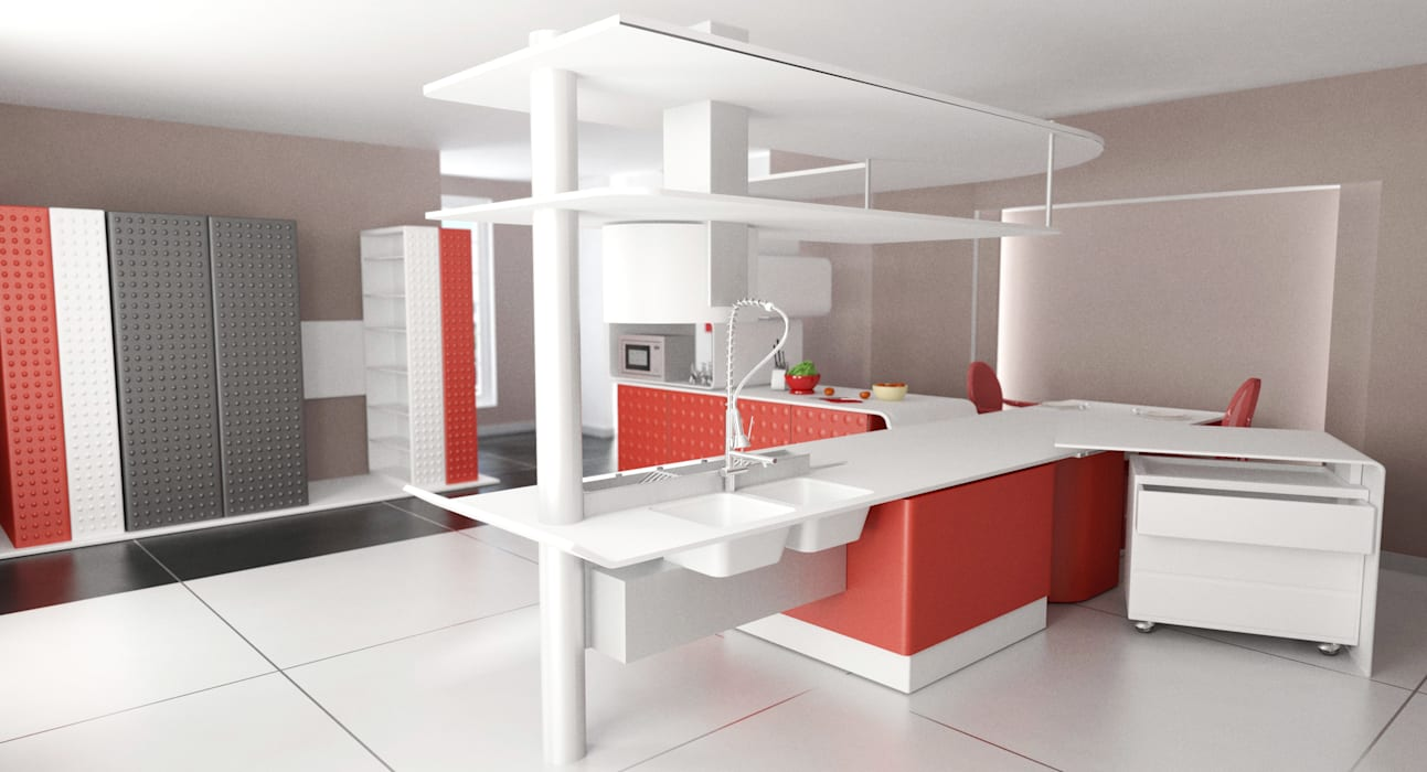 Cucina: Cucina in stile in stile Moderno di b.sign sas