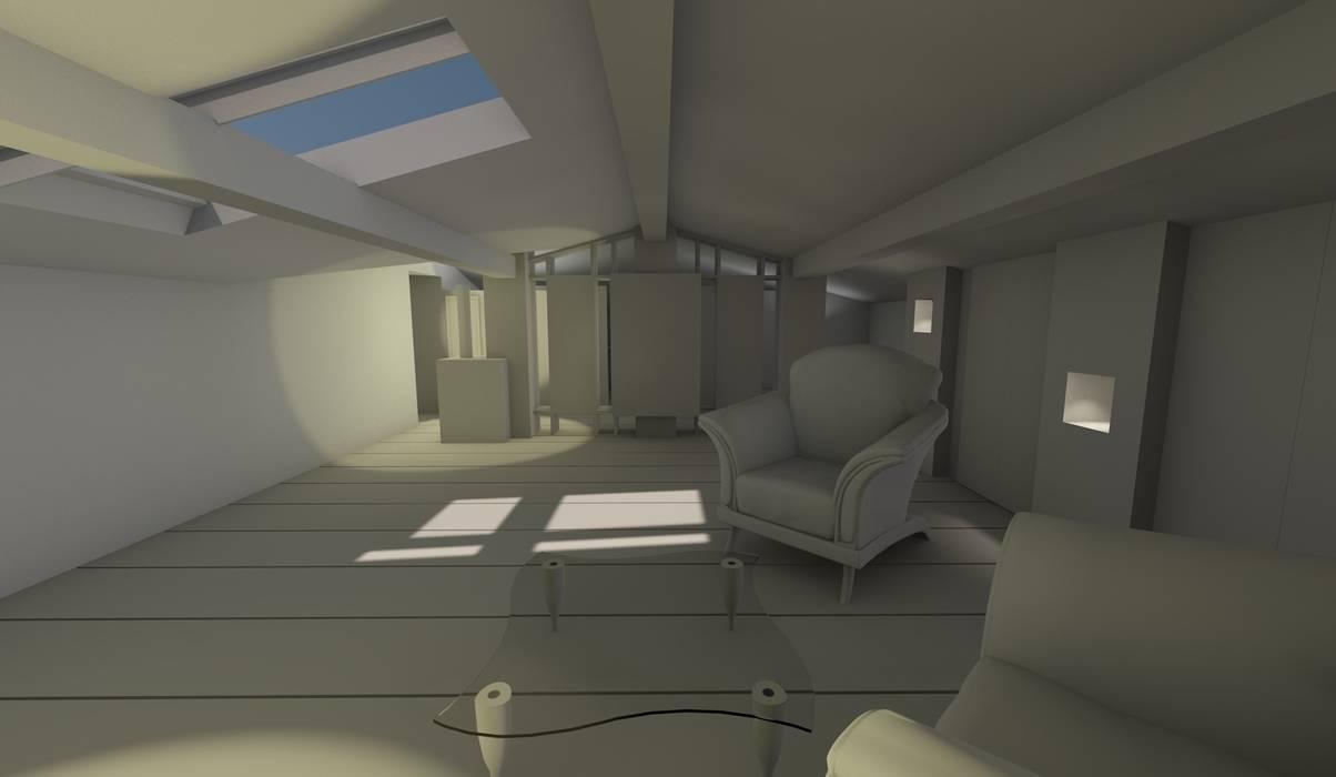 rénovation d'une grange: Salle multimédia de style  par AeA - Architecture Eric Agro