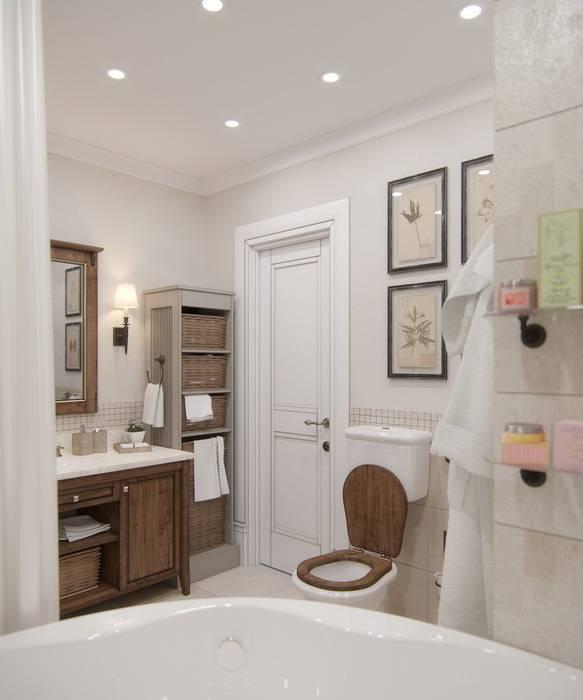 Baños de estilo rústico por MJMarchdesign
