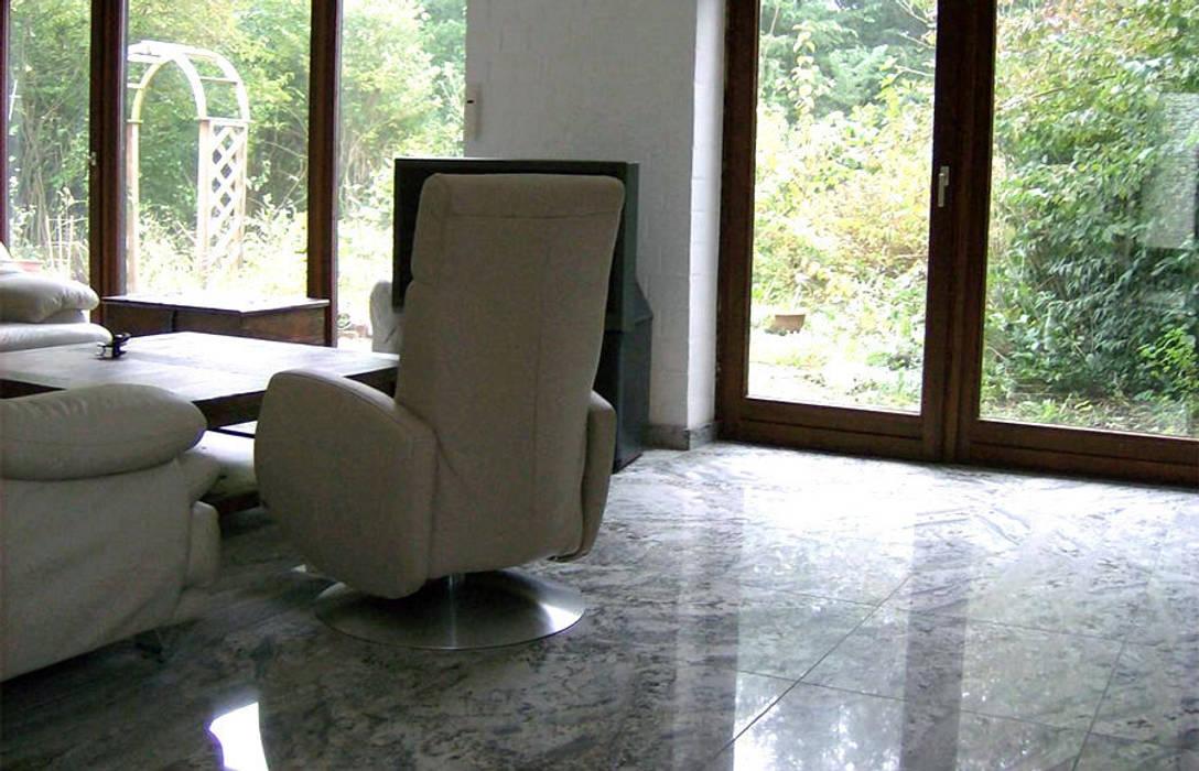 Bodenfliesen Aus Dem Granit White Fusion Wohnzimmer Von Wieland