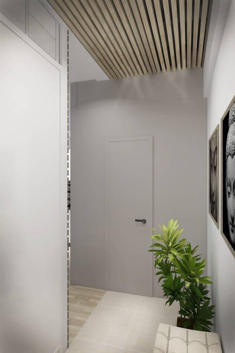 Декор на стенах и потолке: Коридор и прихожая в . Автор – Дизайн-студия HOLZLAB