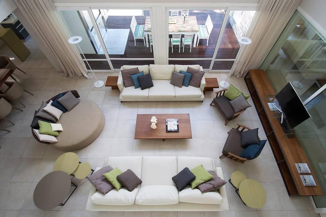 Salas / recibidores de estilo  por Estudio Sespede Arquitectos,