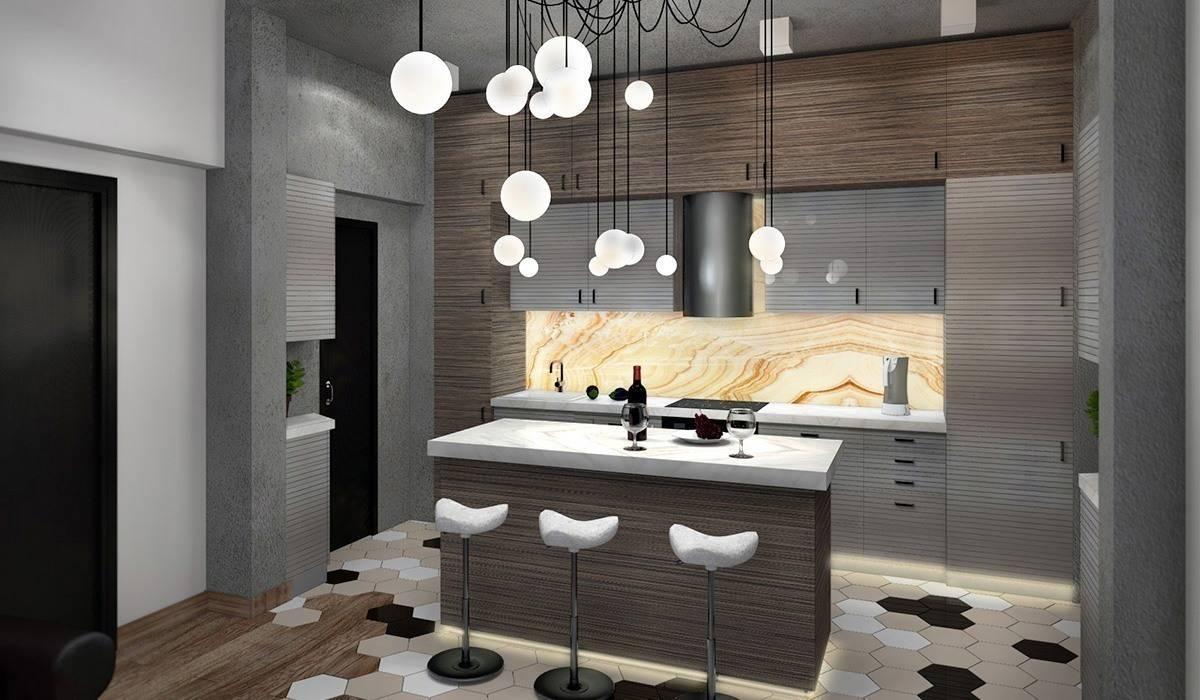 Гостиная, совмещенная с кухней: Гостиная в . Автор – Дизайн-студия HOLZLAB