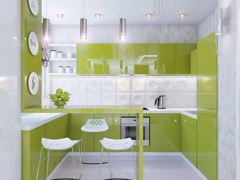 Двух этажная квартира 82 кв.м. Кухни в эклектичном стиле от Ольга Рыбалка Эклектичный