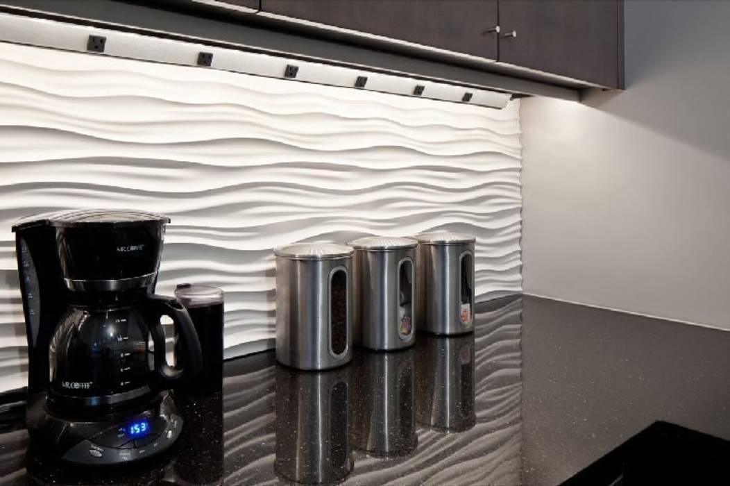 Nowoczesne panele MDF 3D: styl , w kategorii Kuchnia zaprojektowany przez Luxum