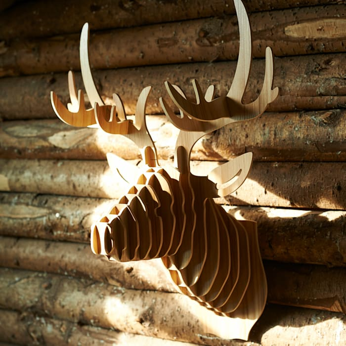 Laminated ash stag head brush64 Oturma OdasıAksesuarlar & Dekorasyon