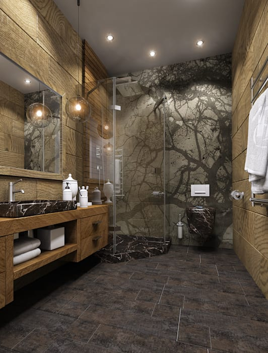Bathroom by Дизайнер интерьера Ольга Фурманова