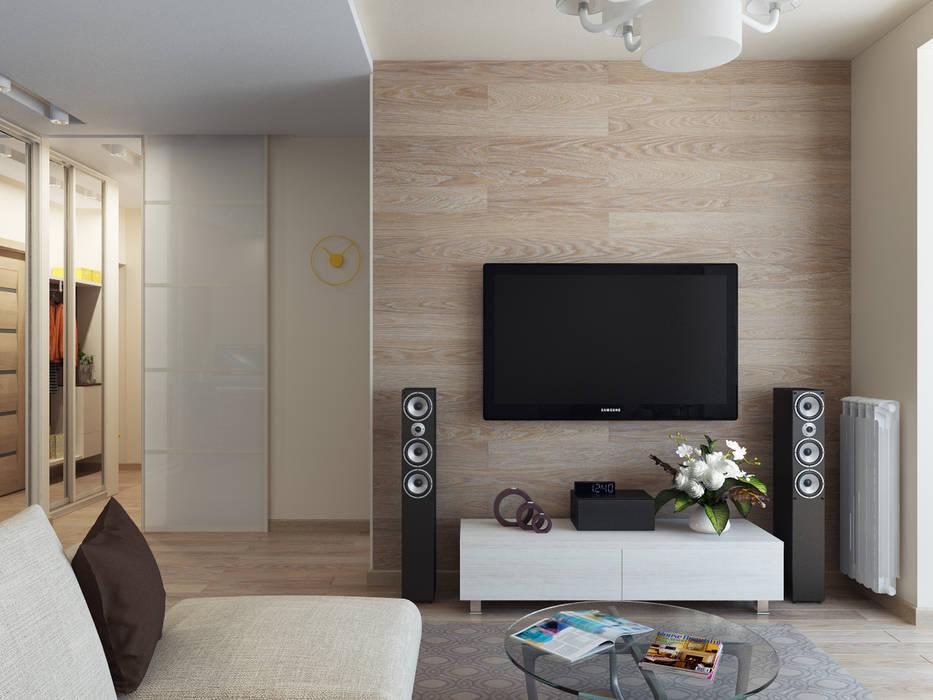 Квартира однокомнатная Гостиная в скандинавском стиле от Оксана Мухина Скандинавский