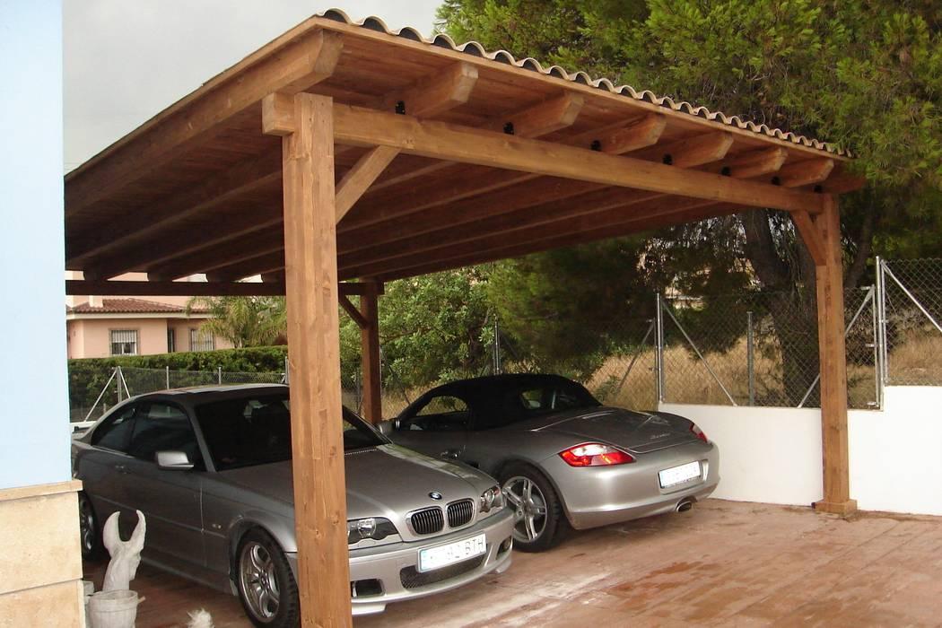 Garajes abiertos de estilo  por Incofusta, Mediterráneo