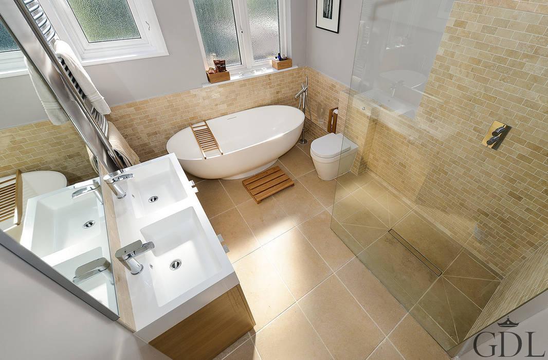 Family Bathroom, SW19 : modern Bathroom by Grand Design London Ltd