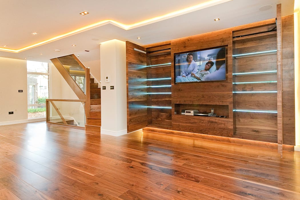 Private House - Holland Park New Images Architects Modern living room
