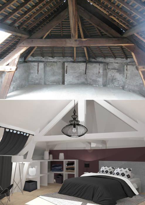 Etage avec une suite parentale: Chambre de style de style Moderne par Uniq intérieurs