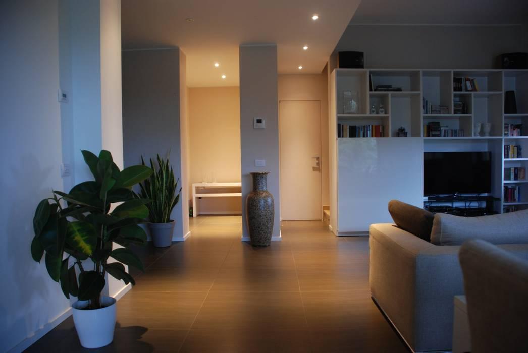 Villa interiors living room soggiorno minimalista di for Soggiorno minimalista