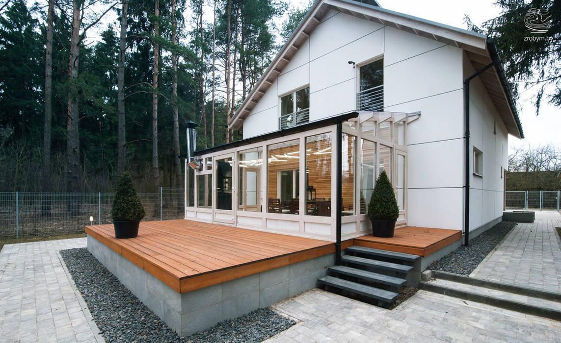 ENERGOHOUSE Балкон и терраса в стиле минимализм от ZROBYM architects Минимализм