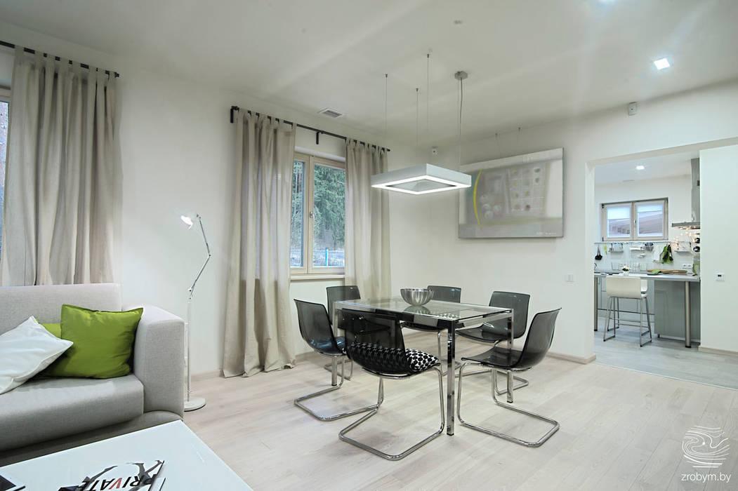 Minimalist dining room by ZROBYM architects Minimalist