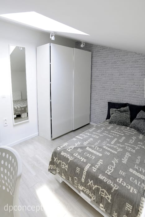 Pokój dla studenta Skandynawska sypialnia od DP Concept Skandynawski