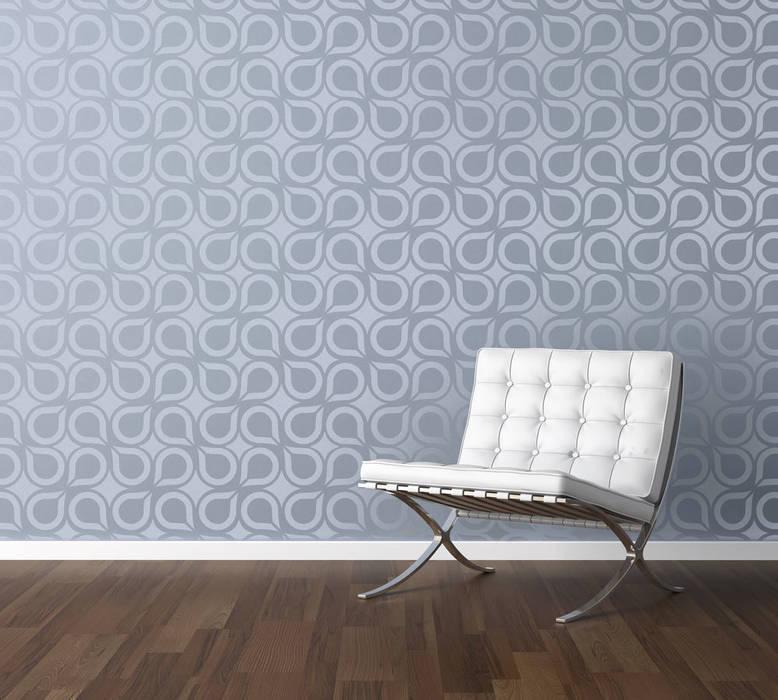 Geometric Retro Wall Stencils Walls Flooring By Stencil Up Homify