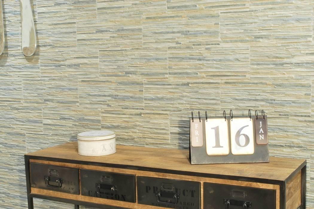 Gres porcellanato effetto pietra piana muschio 16x42: pareti