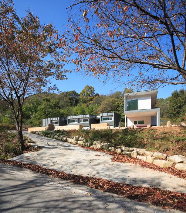문경미니펜션의 외관: 주택설계전문 디자인그룹 홈스타일토토의  주택,