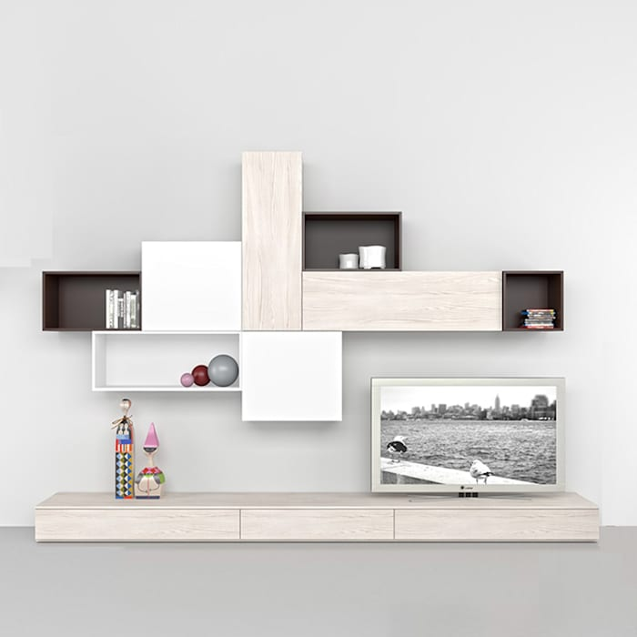 'Coffee' TV/media unit by Mobilstella homify Living roomTV stands & cabinets