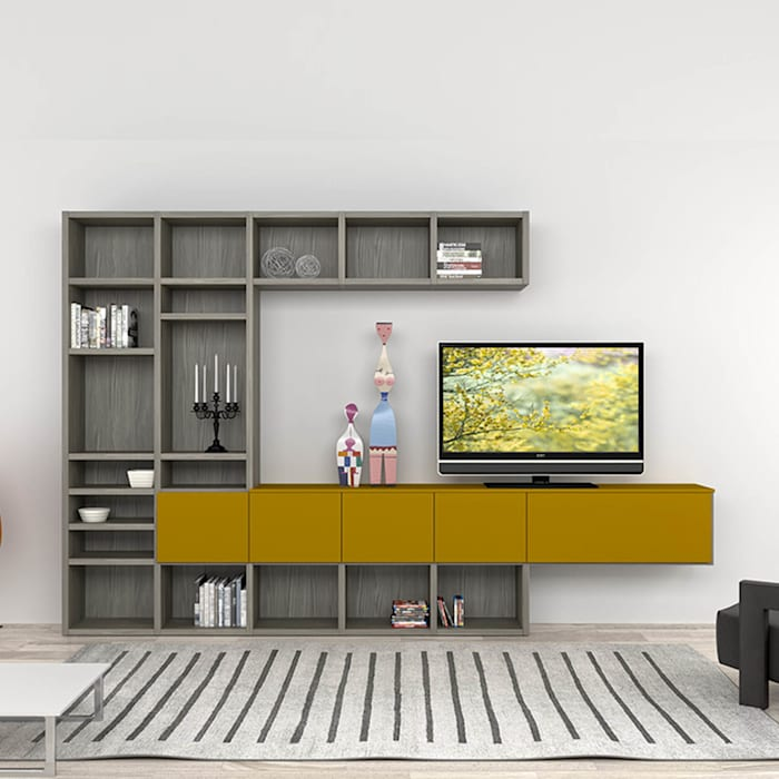 Senape Wall Mounted Tv Stand Media