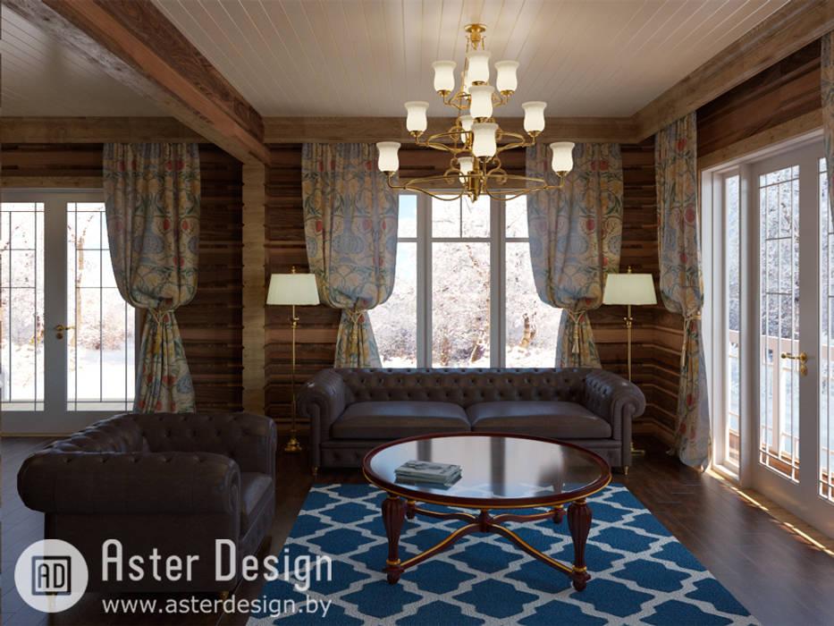 Уютная гостиная.: Гостиная в . Автор – ASTER DECO